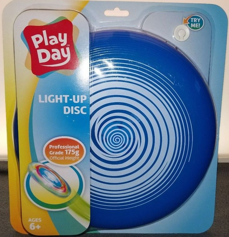 Play Day LIGHT UP FLYING DISC FRISBEE Blue, Proffesional Grade Official Weight  #PlayDay