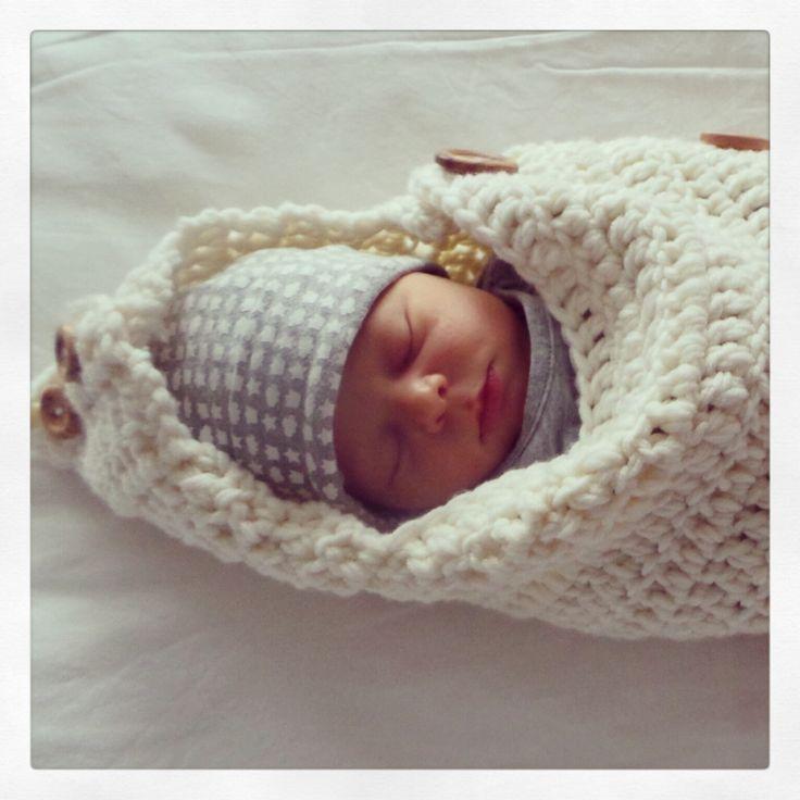 Crochet Cocoon Newborn Baby Merino Gehaakte Baby Cocon Merino Wol Haken