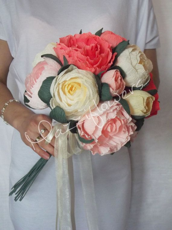bouquet paper flower by Mazziflowers on Etsy