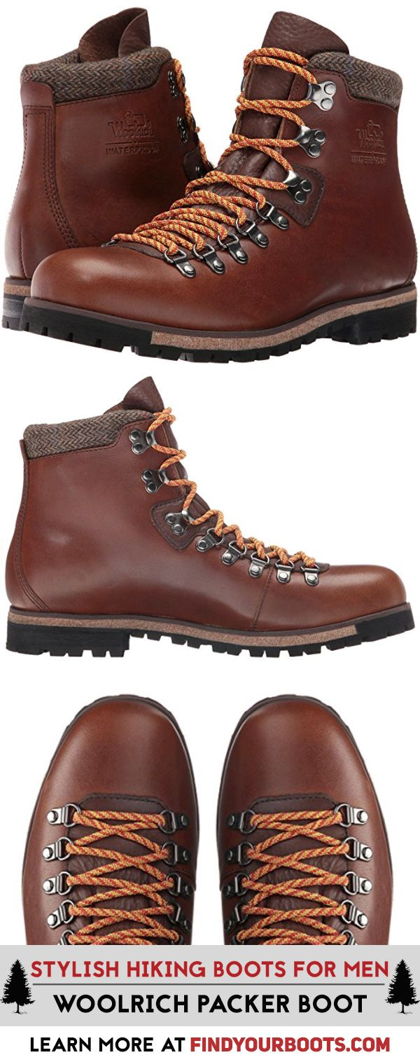 Retro hiking boots for men. Woolrich Packer boot. These cool hiking boots look great for hiking or casual wear.