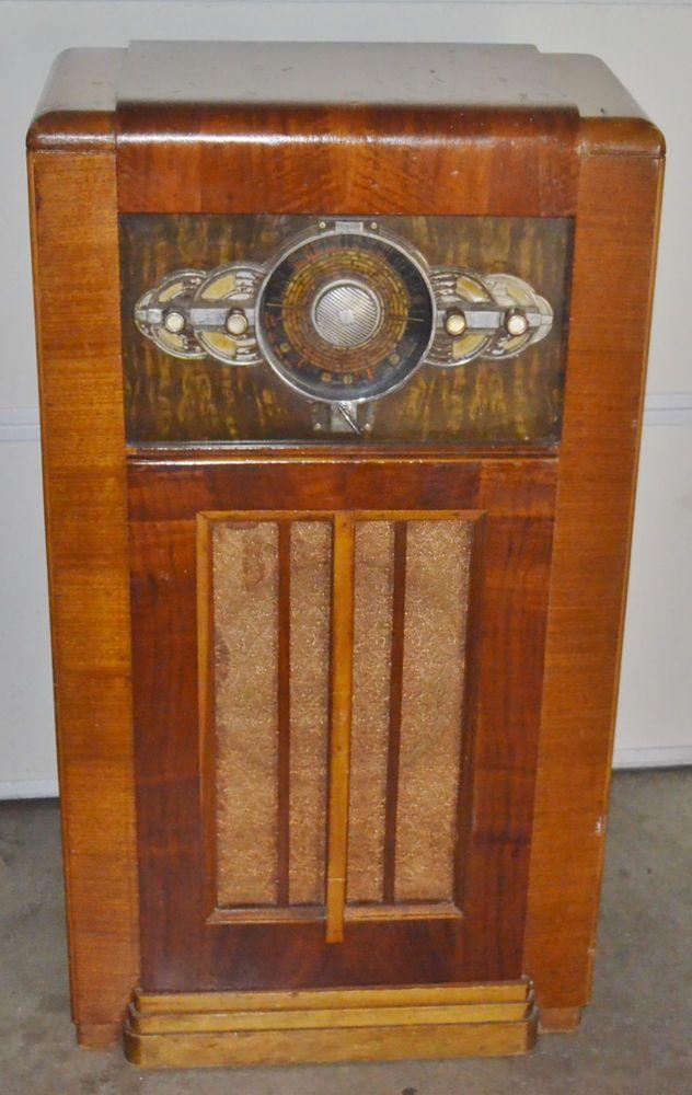 1937 Midwest 18 Tube Radio Model 18 37 Art Deco Radios