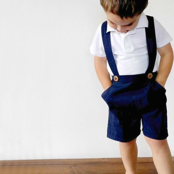 Boys Pants with Suspenders Toddler Shorts with by EdmundAndRose