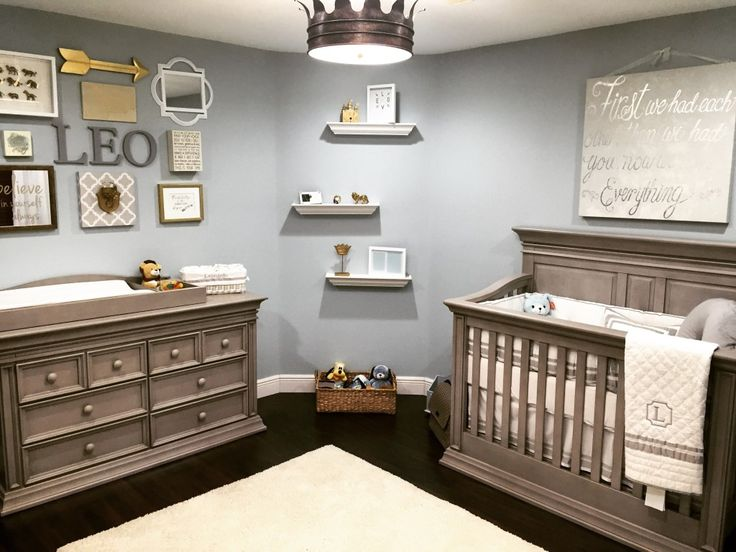 Classic Serene Nursery Fit for a King - love this royal-inspired baby boy nursery!