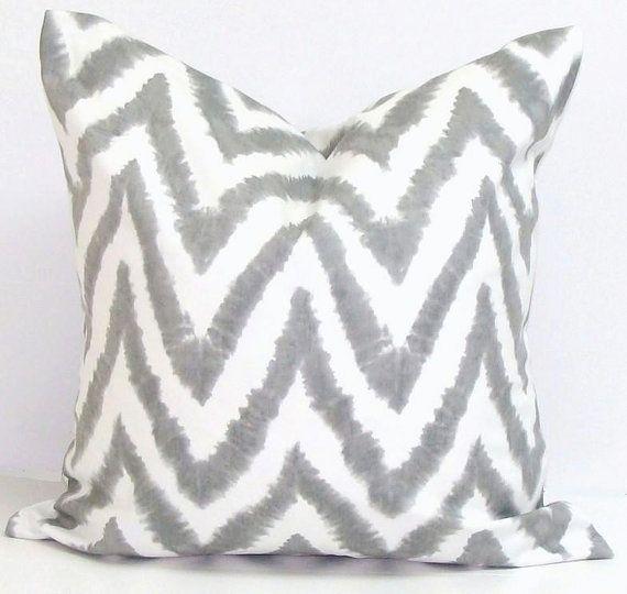 GRAY CHEVRON Pillow. Pillow Cover for an 18X18 by ElemenOPillows, $17.00