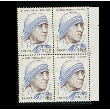 France 2010  –  Mother Theresa 1v MNH Bl