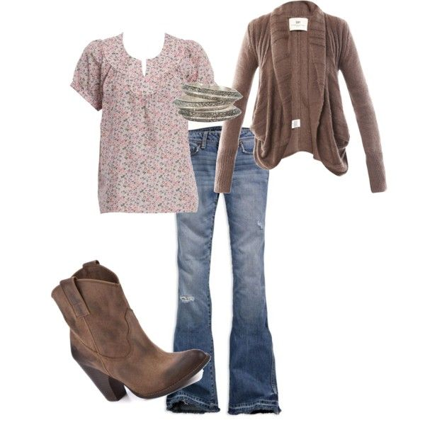 """cowgirl"" by becca-lynn-div on Polyvore // minus the boots -- Toms instead"