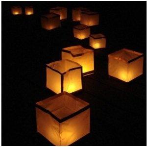 Lanterne Galleggianti. Le lanterne galleggianti sono un modo per creare un caldo e morbido bagliore!