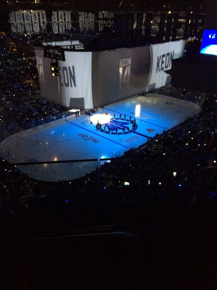 On Saturday night, Toronto Maple Leafs alumni were standing confidently on our latest installation: The centre ice carpet!
