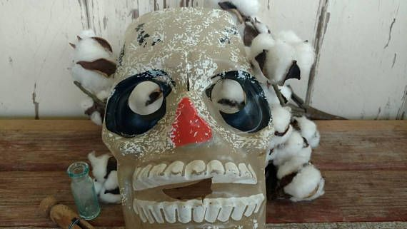 Check out this item in my Etsy shop https://www.etsy.com/listing/532354274/vintage-scary-skeleton-mask-for
