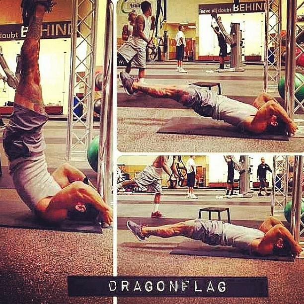 Dragon Flag...One of the most challenging and effective exercises out there for the core To make it more challenging, slow down the action by 3 times and see the difference