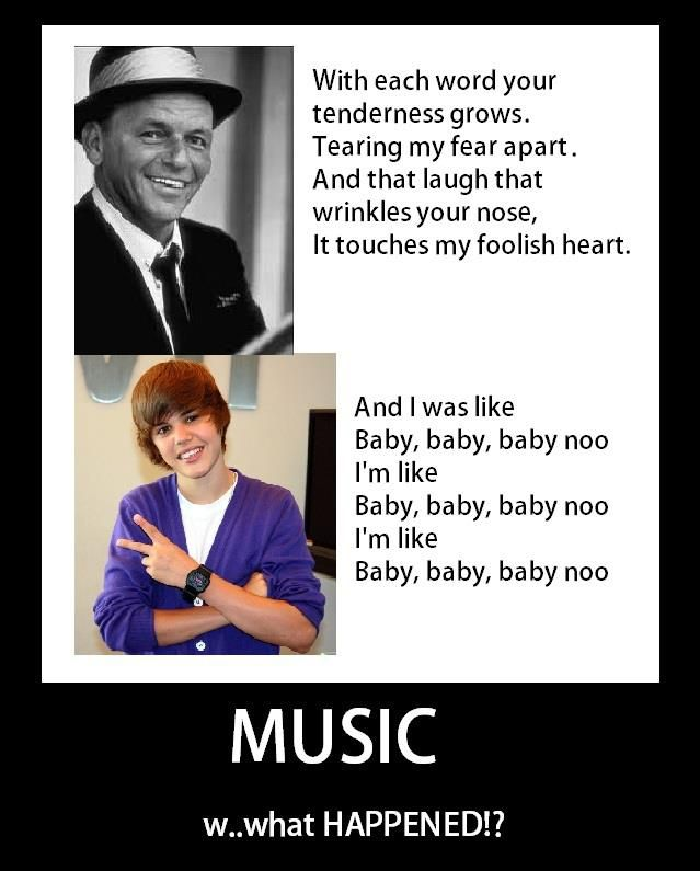 MUSIC: what HAPPENED!? {Frank Sinatra and Justin Bieber}