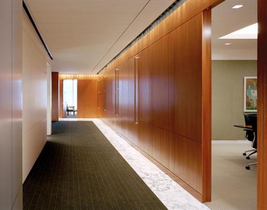 Pillsbury Winthrop Law Offices   New York   office corridor