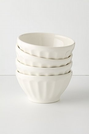 I have such a weakness for white bowls..