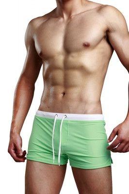 Skinny Liberty Back Pocket Green Male Underwear Briefs