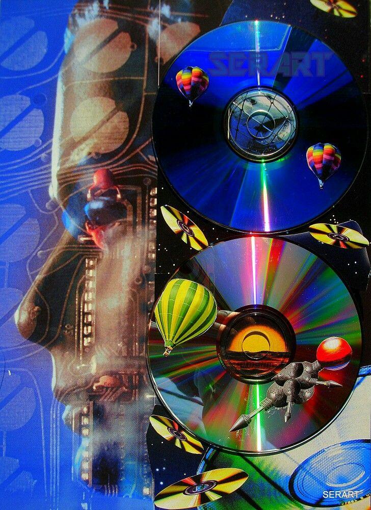 Electronic Music Digital Collage Art Stelios Serras Serart