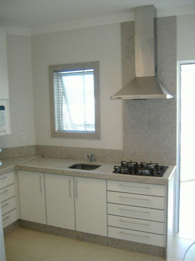 Cozinha - Granito Branco Siena - Marmoraria Pedra Polida - Brusque SC