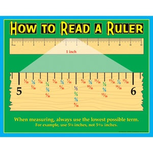 Great activities for teaching fractions of an inch- and fractions on a numberline