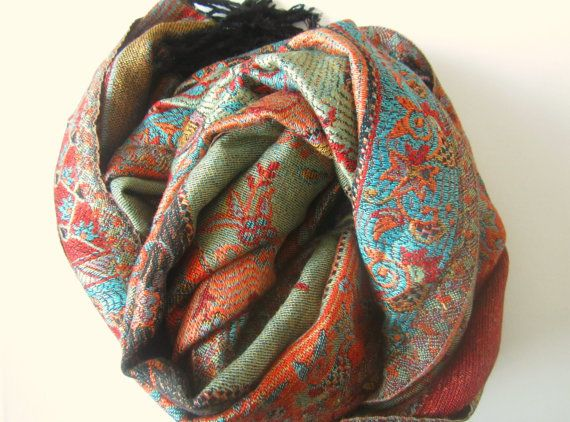 Luxury Gifts for her Colourful shawls Boho Unique  One of a kind  Bohemian Handmade shawls Boho Winter wear Handmade woollen