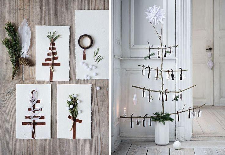 Hyggelige kort og hjemmelaget juletre