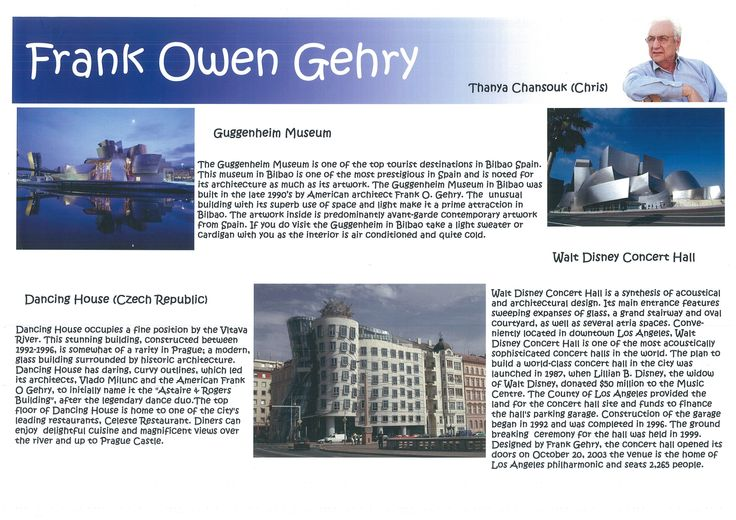 Frank Owen Gehry Research Page 1