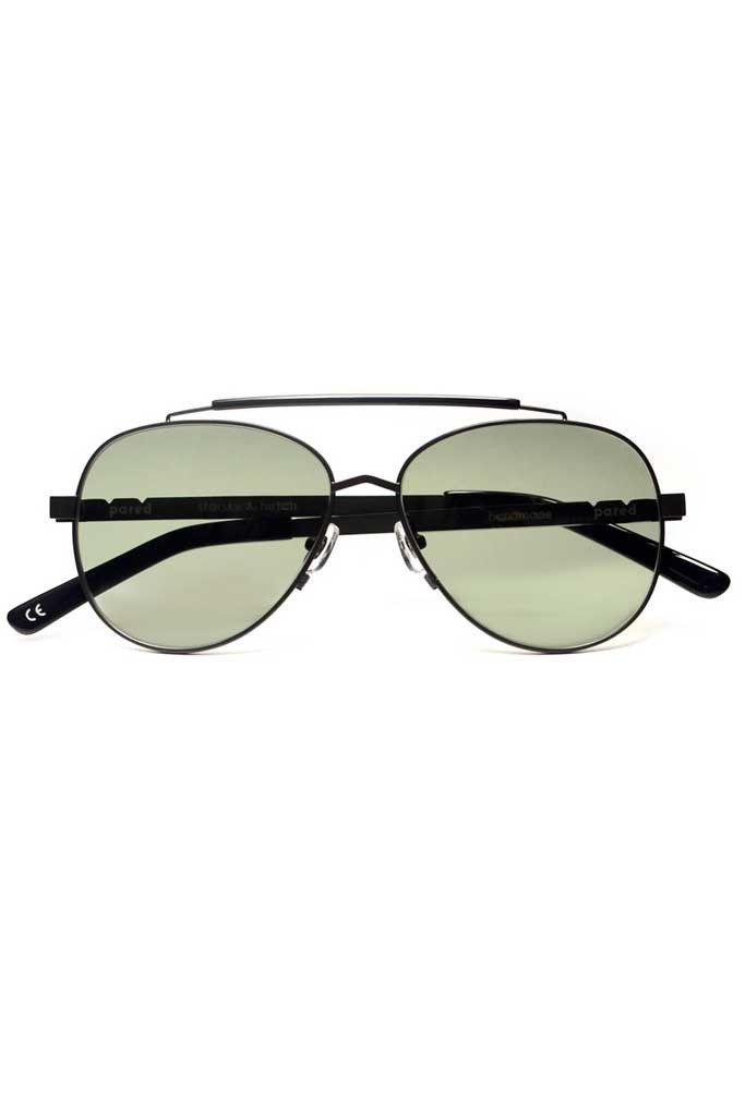 PARED - Starsky & Hutch Gunmetal/Green Lens Sunglasses