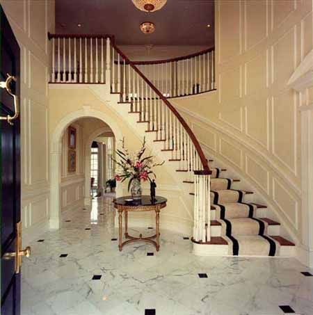 Holly beth 39 s favorite foyer love the marble floors for House plans with stairs in foyer