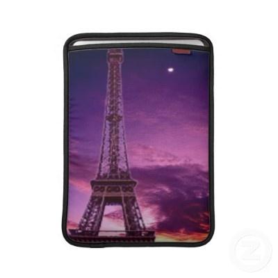 Eiffel Tower in Sunshine Sky Sleeve For Macbook Air by elena_indolfi