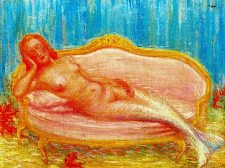 The forbidden world via Rene Magritte Medium: oil, canvas