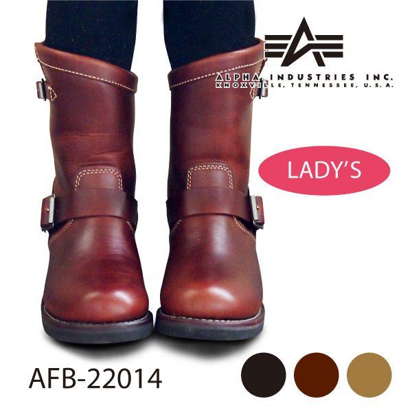 <br>ブーツ エンジニアブーツ ショート 本革 レディース<br>【ランキング1位獲得!大人気商品】<br>ALPHA INDUSTRIES<br>アルファ インダストリーズ<br>AFB-22014<br>靴<br>10P23Apr16