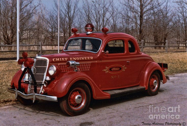 1935 Ford Deluxe Chief Engineers Car at Pierce Fire Apparatus in Appleton, WI...