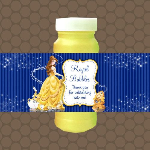 Beauty and the Beast Belle Bubble Labels Wrappers Stickers Printable Uprint Digital DIY Instant Download by KDesigns2006