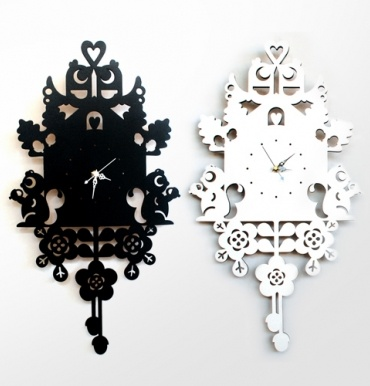 Sustainably-made laser-cut Nordic cuckoo clock