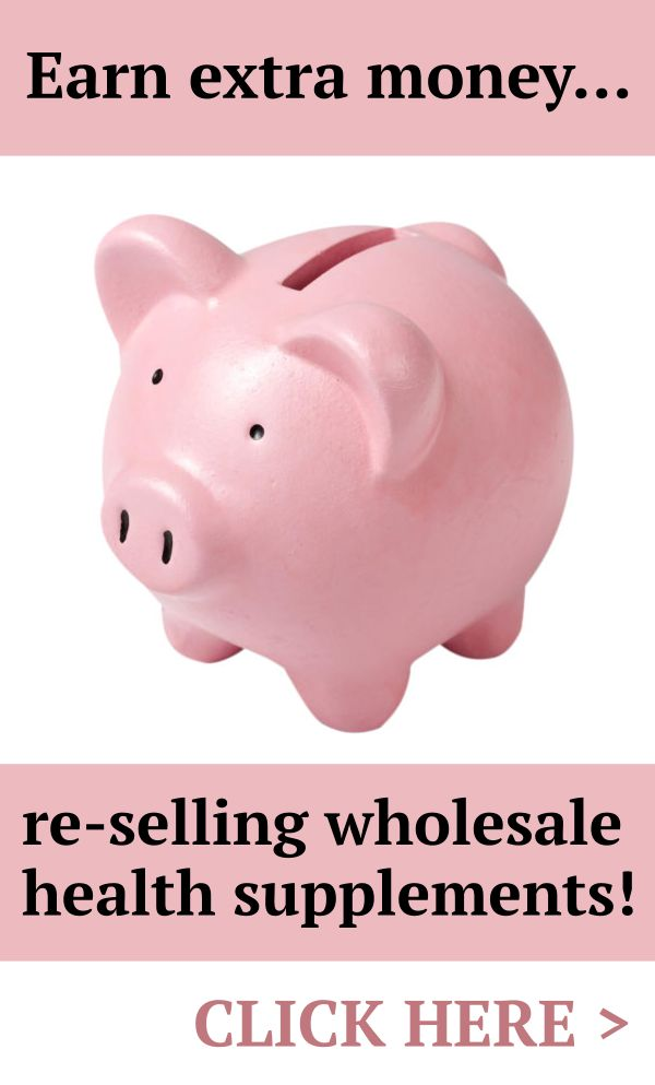 EARN EXTRA MONEY: Re-sell our wholesale supplements and earn extra money with little or no financial outlay! CLICK to find out how to get started - it's quick and easy...