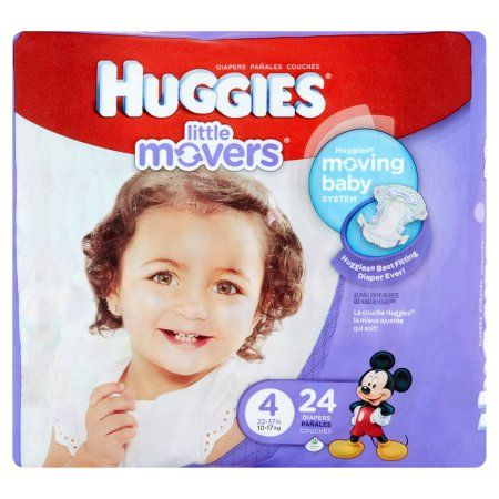 Huggies Little Movers Diapers, Size 4 (Choose Diaper Count)