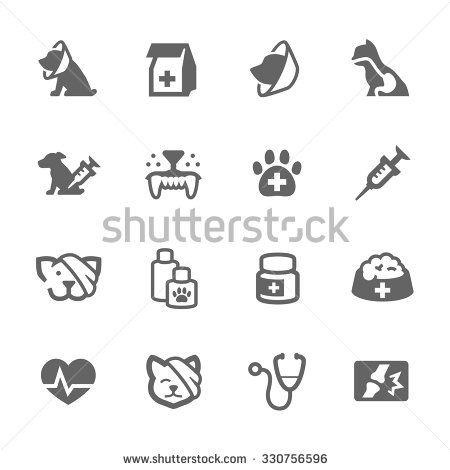 Simple Set of Pet vet Related Vector Icons for Your Design.