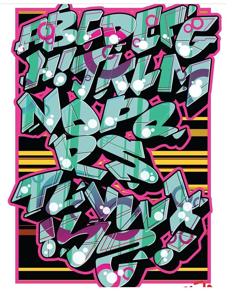 grafitti alphabet