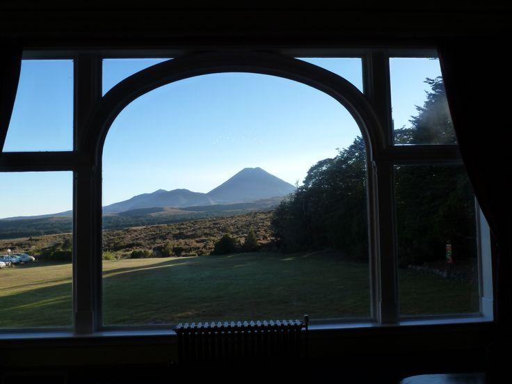 Tongariro from Chateau Tongariro hall