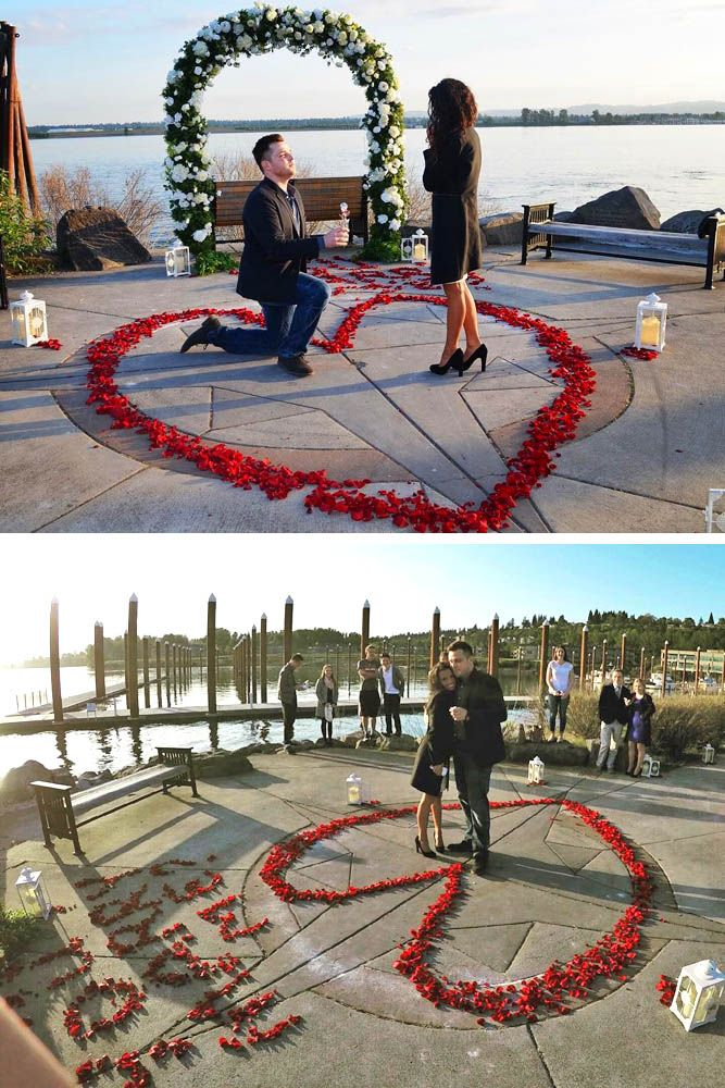 Romantic Proposal Ideas So That She Said Yes ❤ See more: http://www.weddingforward.com/romantic-proposal-ideas/ #wedding #proposal #ideas