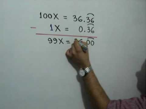 Fracción generatriz de un número decimal infinito periódico puro: Julio Rios explica cómo obtener la fracción generatriz de un número decimal infinito periódico puro