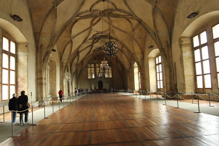 The hall used for coronations, Vladislav hall at Prague castle - May 16 2014