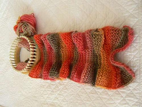 Ruffled Loom Knit Scarf