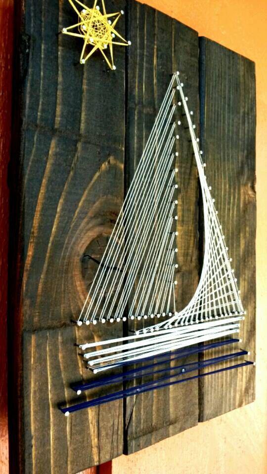 Sailboat String Art by CherishbyNicole on Etsy