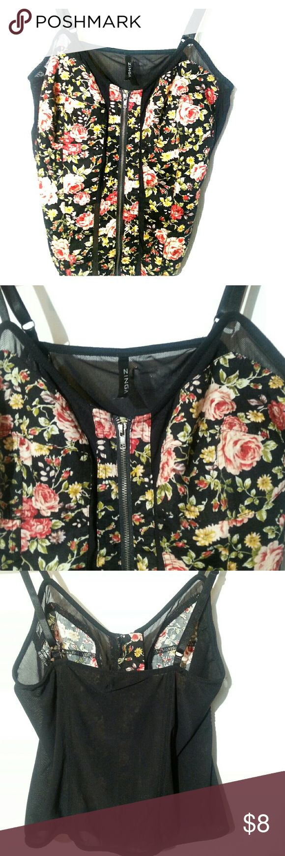 Women's floral cami size L Women's floral cami size Large, never used. Zinga Tops Camisoles