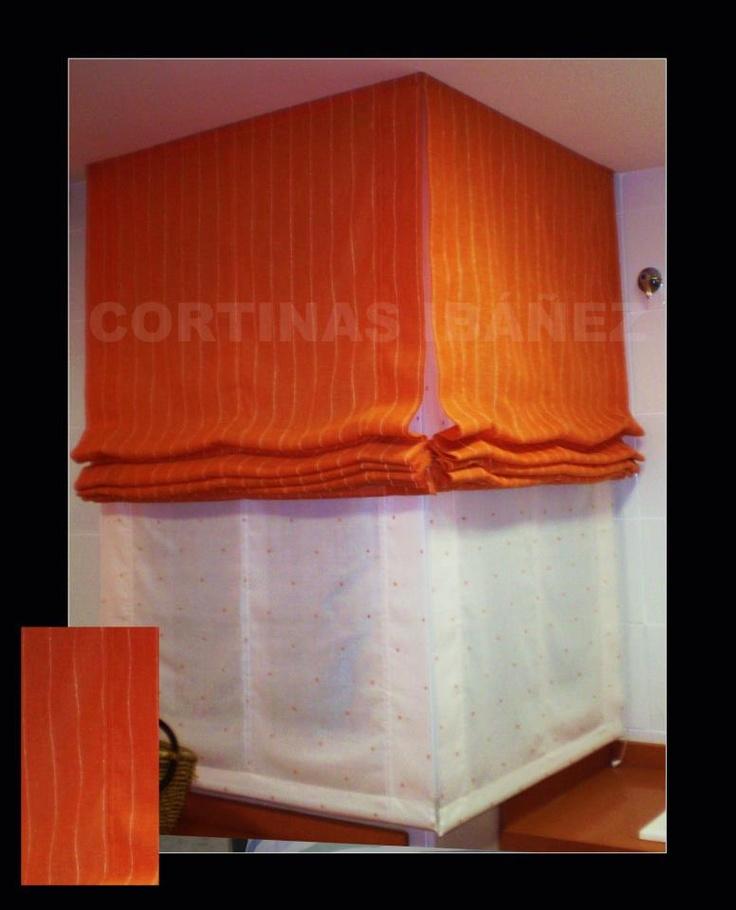 31 best cortinas en cocinas images on pinterest net curtains blinds and manual - Cortinas lino beige ...