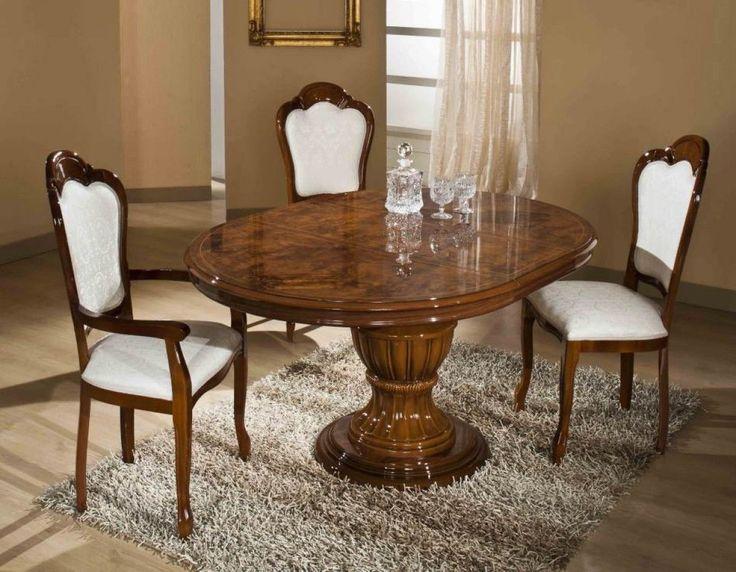 Modrest Elizabeth Round Extendable Dining Table VGACCELIZABETH ROUND BRN