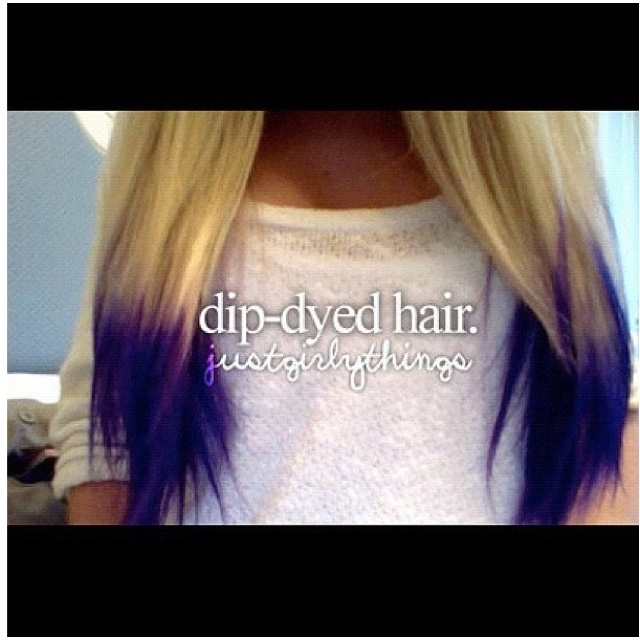 Dip-dye my hair Purple!