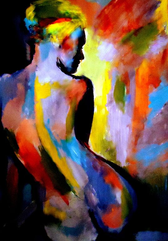 "Saatchi Online Artist: Helena Wierzbicki; Acrylic, 2012, Painting """"Time disolves"""""