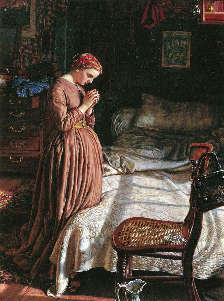 Pre Raphaelite Art: William Holman Hunt - Morning (1866)