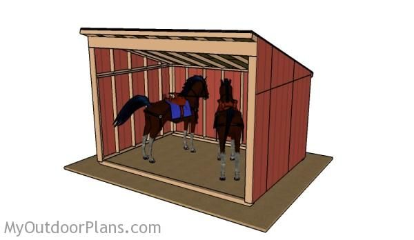 25 best ideas about horse shelter on pinterest horse shed horse run in shelter and lean to Horse run in shed plans design