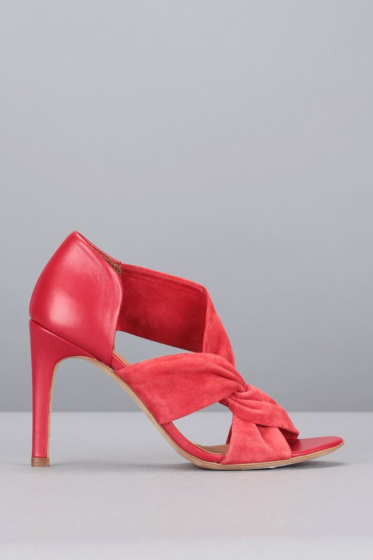 Sandales à talons rouges cuir Carlie IRO, 275e